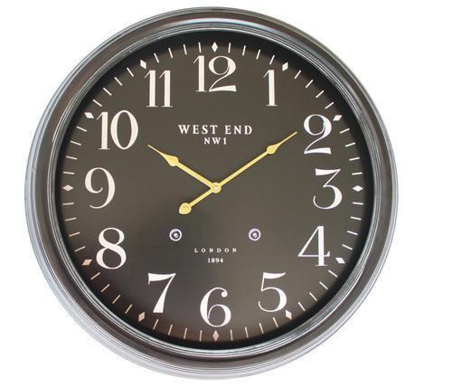 WEST END 63cm/25in BLACK CLOCK