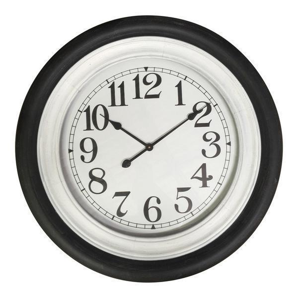 BLACK/WHITE 78cm CLOCK