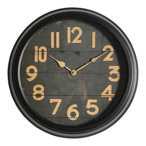 40CM BLACK WIDE RIM CLOCK
