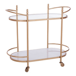 Marble & Glass Gold Bar Trolley
