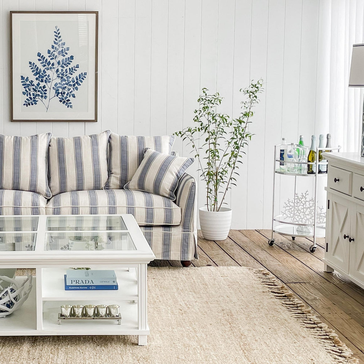 Marcella Round Silver Bar Trolley