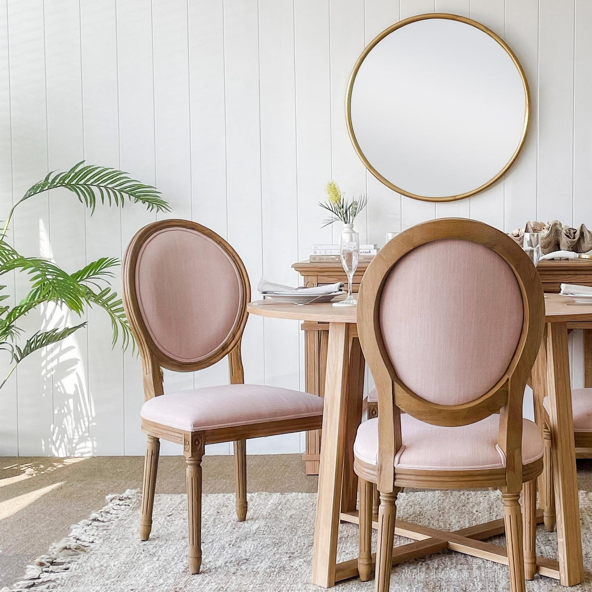 Griffin Large Round Gold Mirror