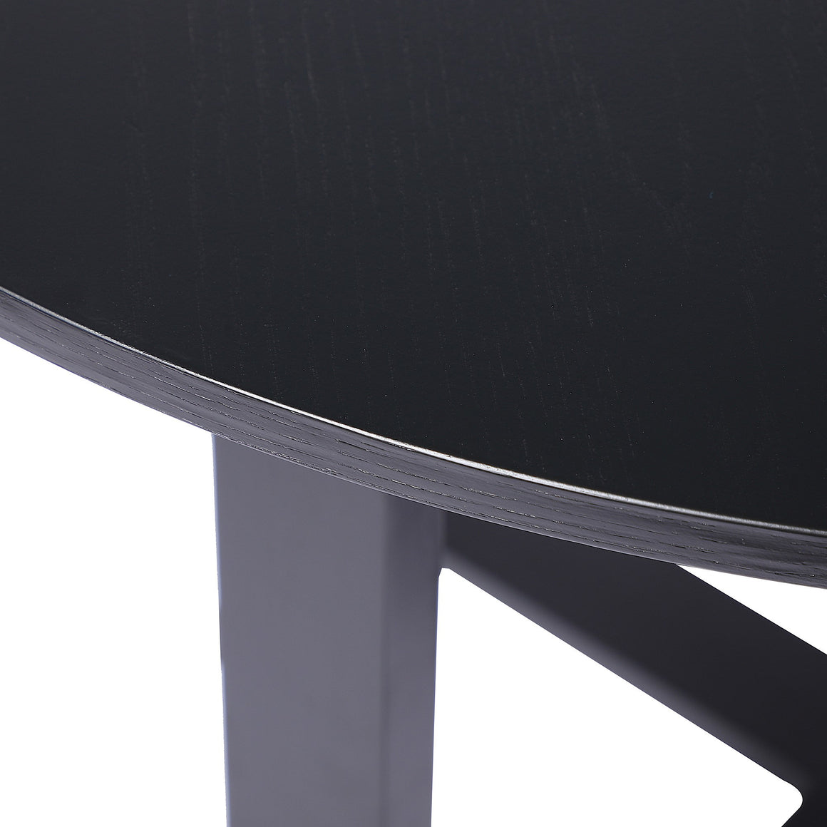 Oslo Oak 1.2M Round Dining Table Black
