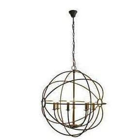 IRON ORB TAUPE CHANDELIER