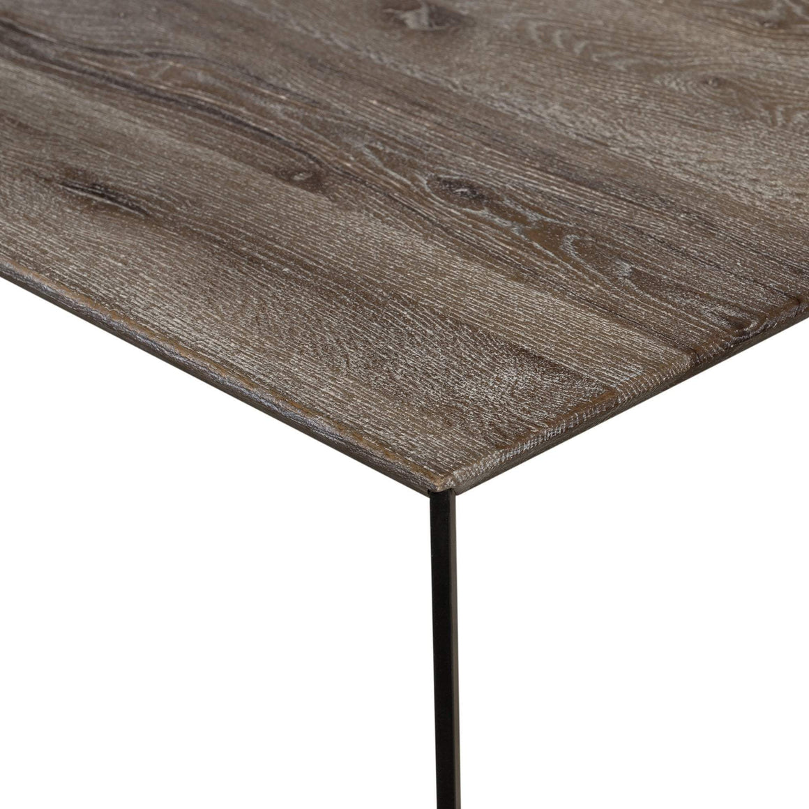RUSTIC OAK DINING TABLE SQUARE 2.4M