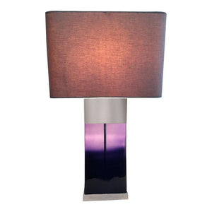 Shaynna B Purple Flask Lamp Glass