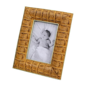 FAUX LEATHER PHOTO FRAME 4X6