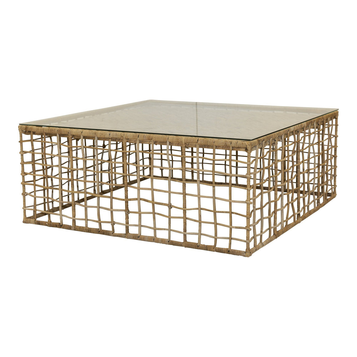 MENTERA COFFEE TABLE W/ TEMPERED GLASS