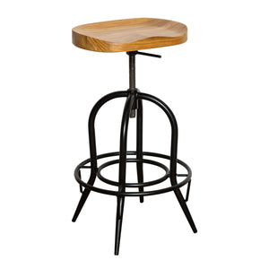 Moulded Nat Elm Wood Barstool Footrest