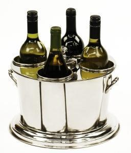 4 Bottle Nickel Wine Cooler
