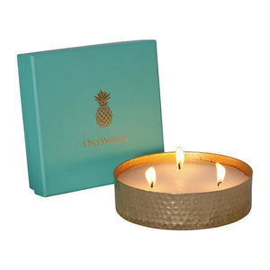 AMES TRIPLE WICK CANDLE - LINEN