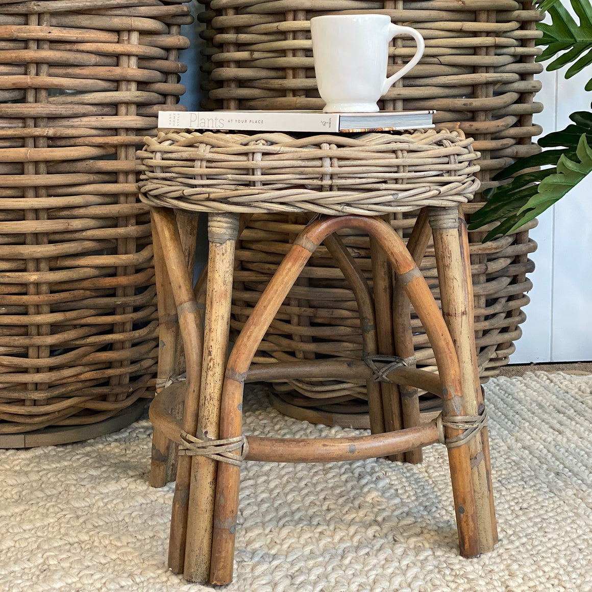 Cancun Rattan Side Table / Stool