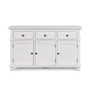 WEST BEACH 3 DOOR BUFFET WHITE GRAIN