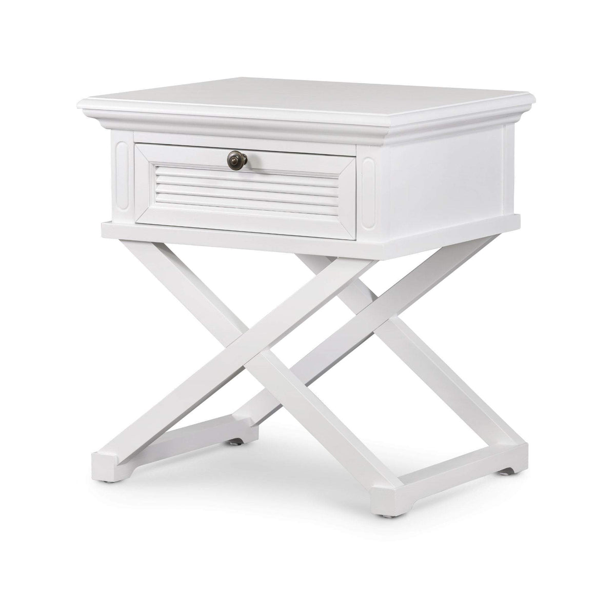 WEST BEACH SIDE TABLE WHITE GRAIN
