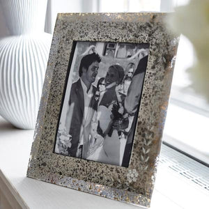ANTIQUE SILVER PHOTO FRAME 4X6