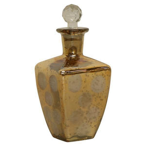 FLARED GOLD LUSTER PERFUME BOTTLE