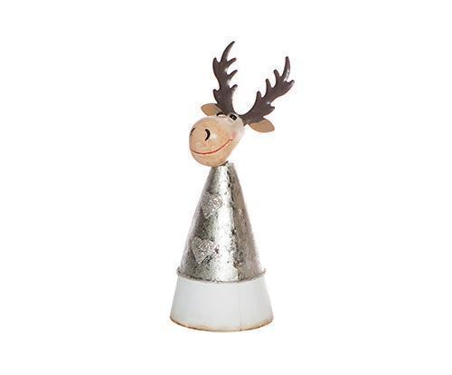 Small Metal Cone Reindeer