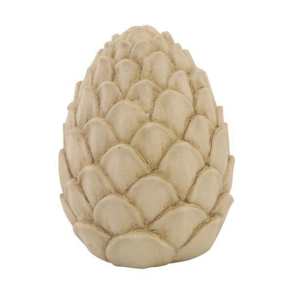 SNOW WHITE GLITTER PINECONE ORNAMENT