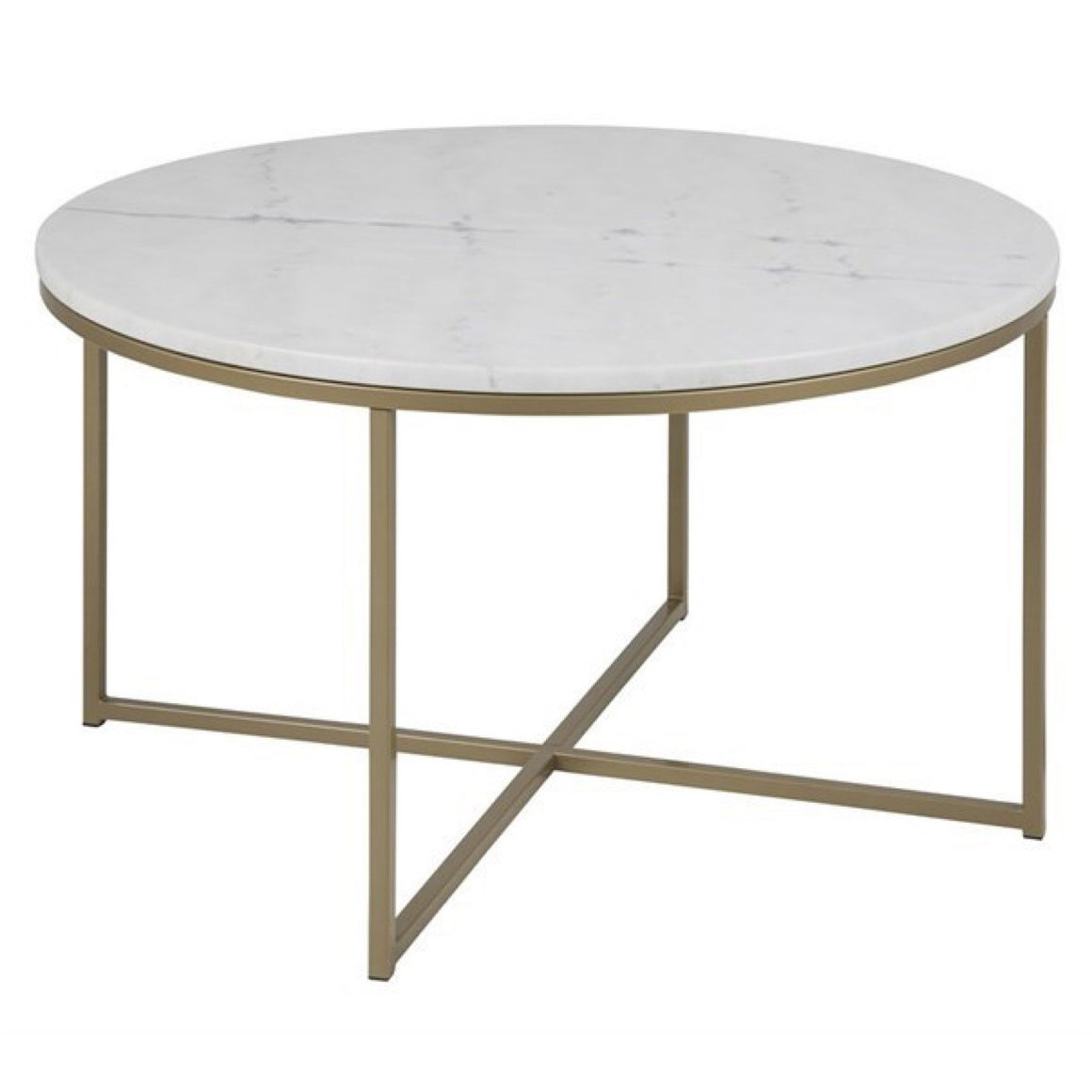 Alisma Coffee Table Brass Round