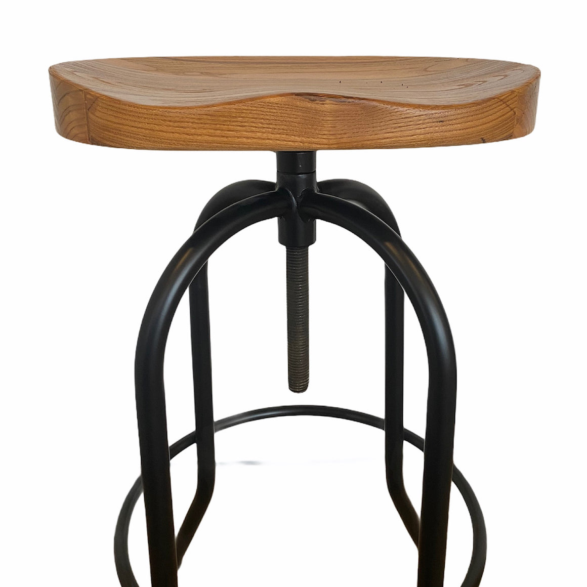 Avoca Light Elm with Black Frame Barstool