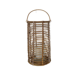 Cabo Rattan Round Large Lantern with Handle