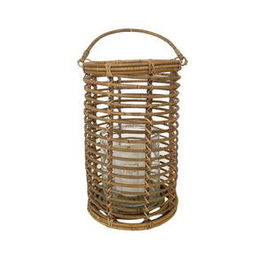 Cabo Rattan Round Small Lantern with Handle