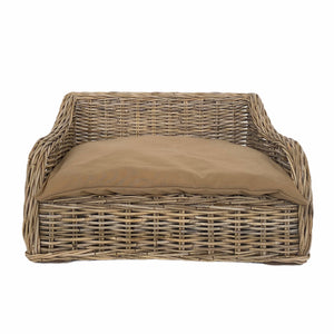 Cabo Rattan Dog Bed with Pillow