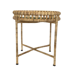 Darma Round Rattan Side Table