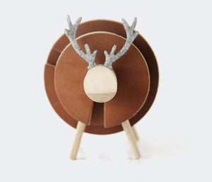 Leather Coaster Set - 8Pcs - Oh My Deer by Roarcraft
