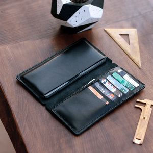 iPhone Leather Wallet Case - Tripolis by Roarcraft
