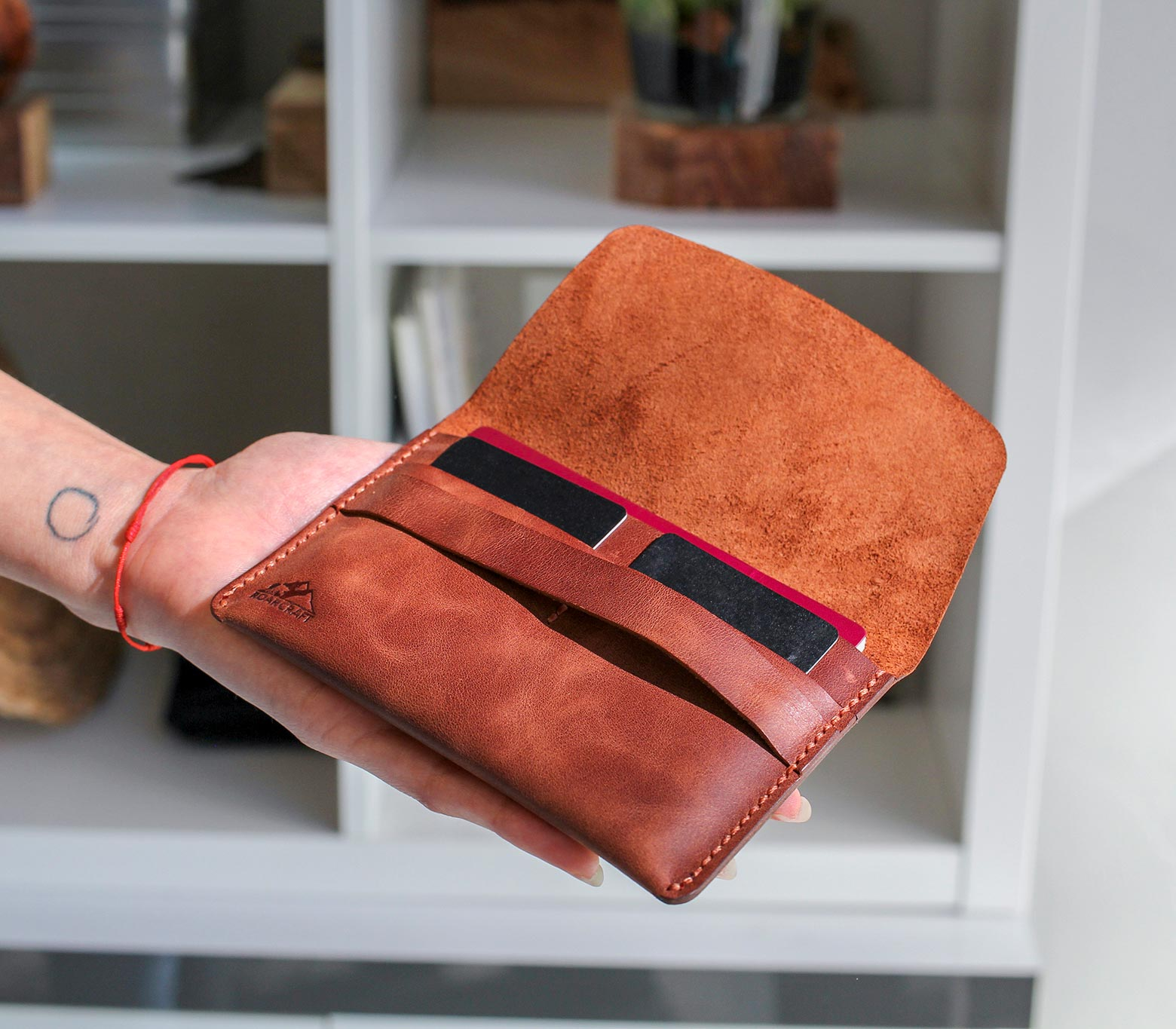 Leather Travel Wallet - Zeugma
