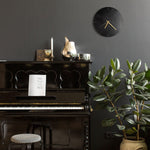Leather Wall Clock - Letoon Black by Roarcraft