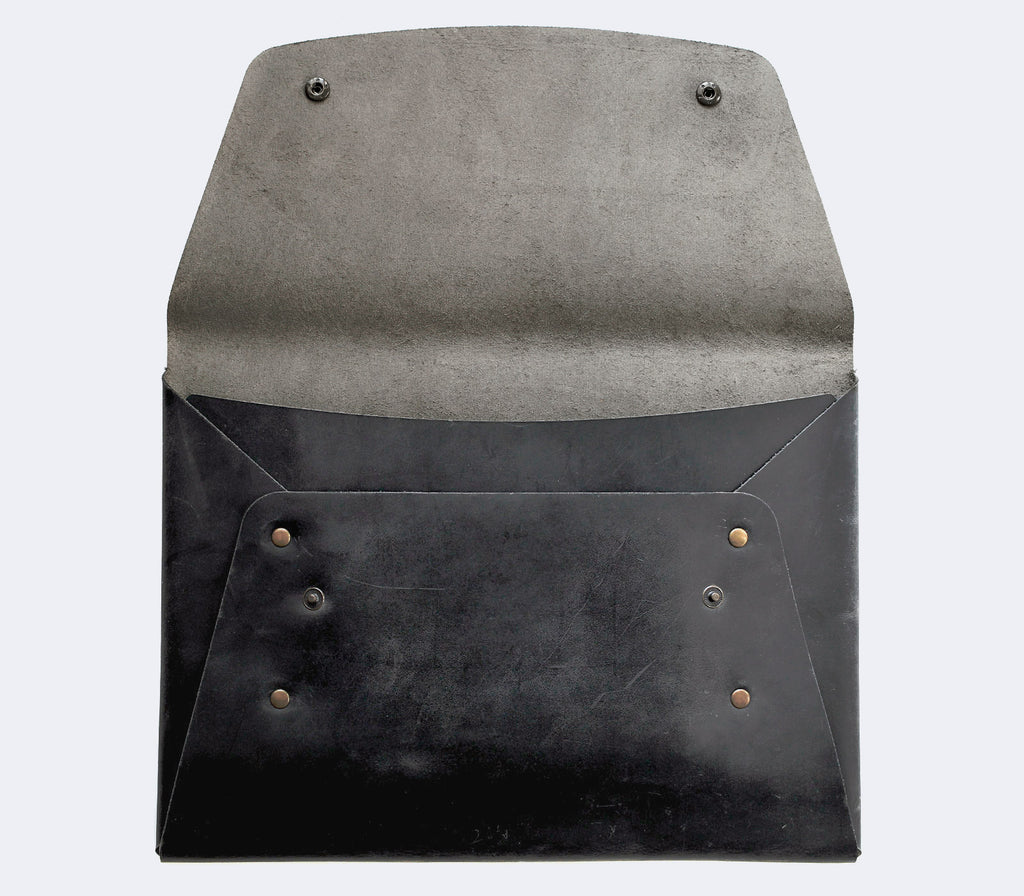Leather iPad Case - Gray