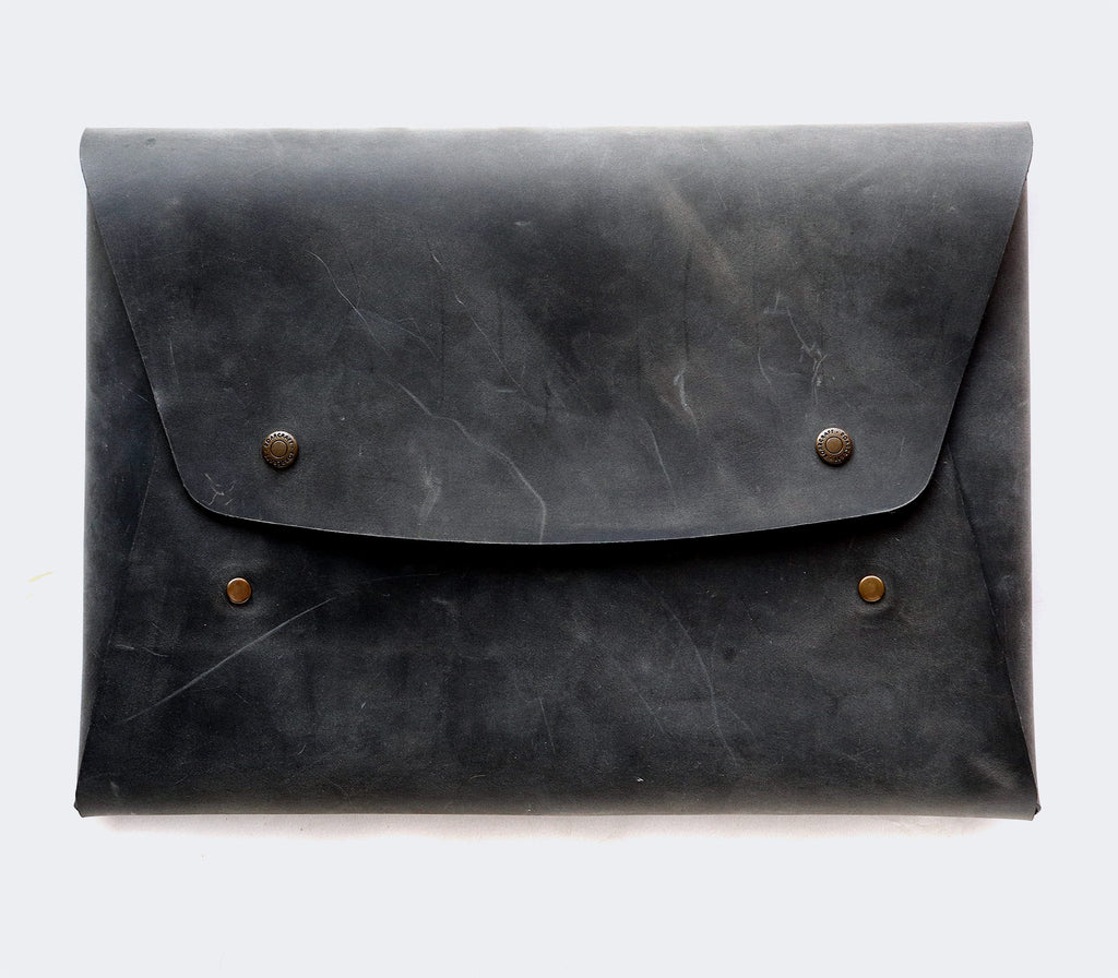 Leather Macbook Case - Gray