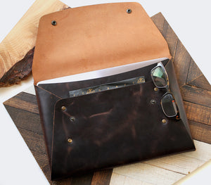 Leather iPad Case - Brown