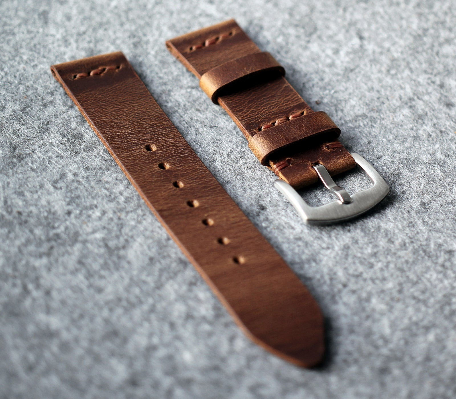 Leather Watch Strap - Antique Brown