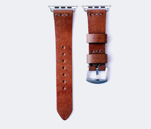 Apple Watch Leather Strap - Cognac