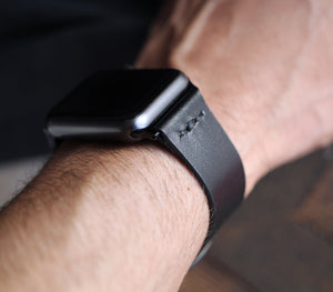 Apple Watch Leather Strap - Black