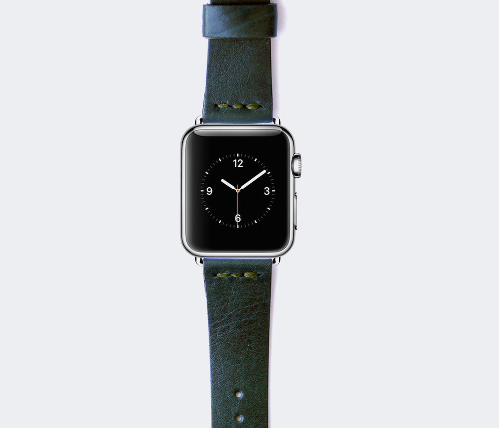 Apple Watch Leather Strap - Emerald Green