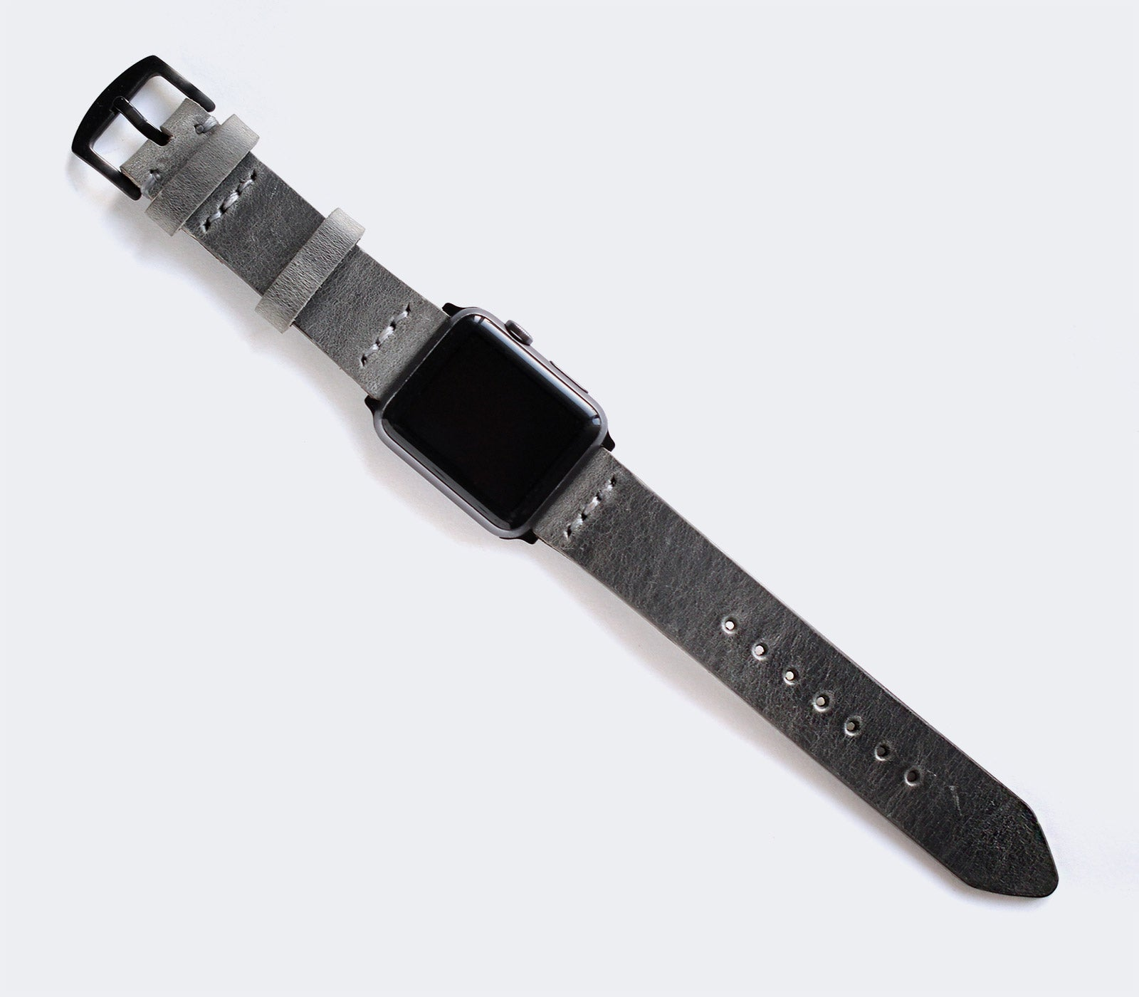 Apple Watch Leather Band - Antique Gray