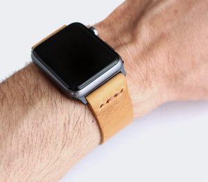 Apple Watch Leather Band - Mustard