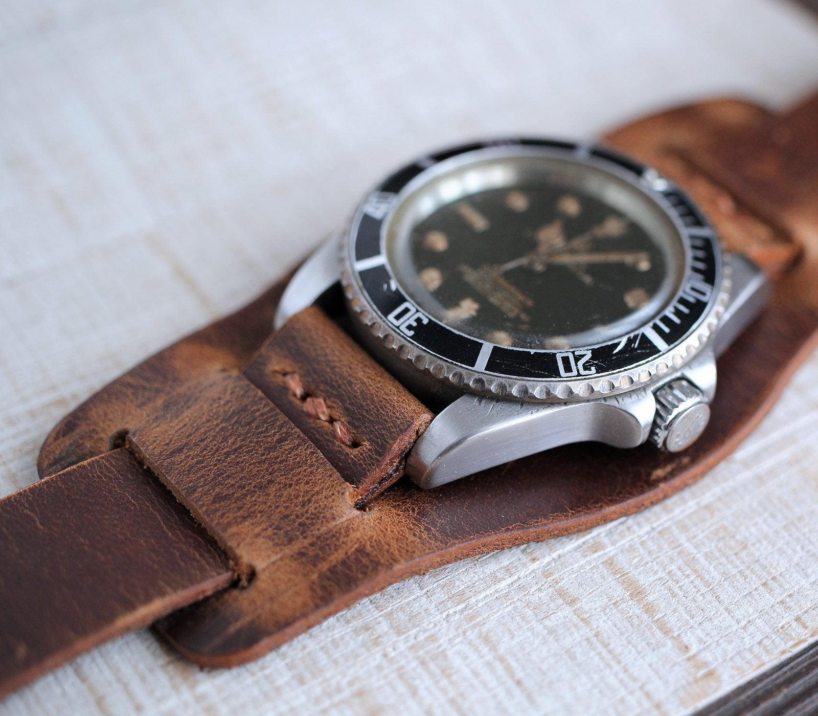 (NEW) Bund Strap - Antique Brown