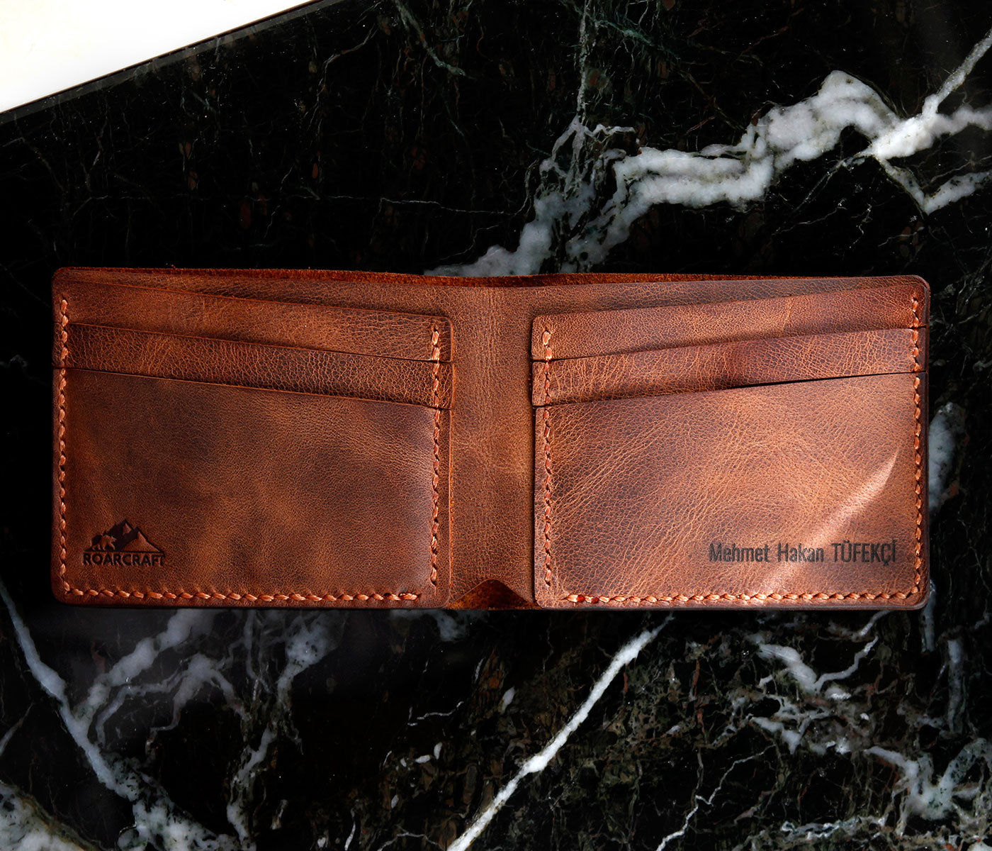 Classic Bifold Leather Wallet - Pergamon by Roarcraft