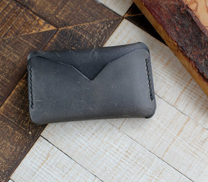 Leather Mini Card Holder - Troya