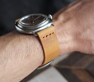 Leather Watch Strap - Mustard