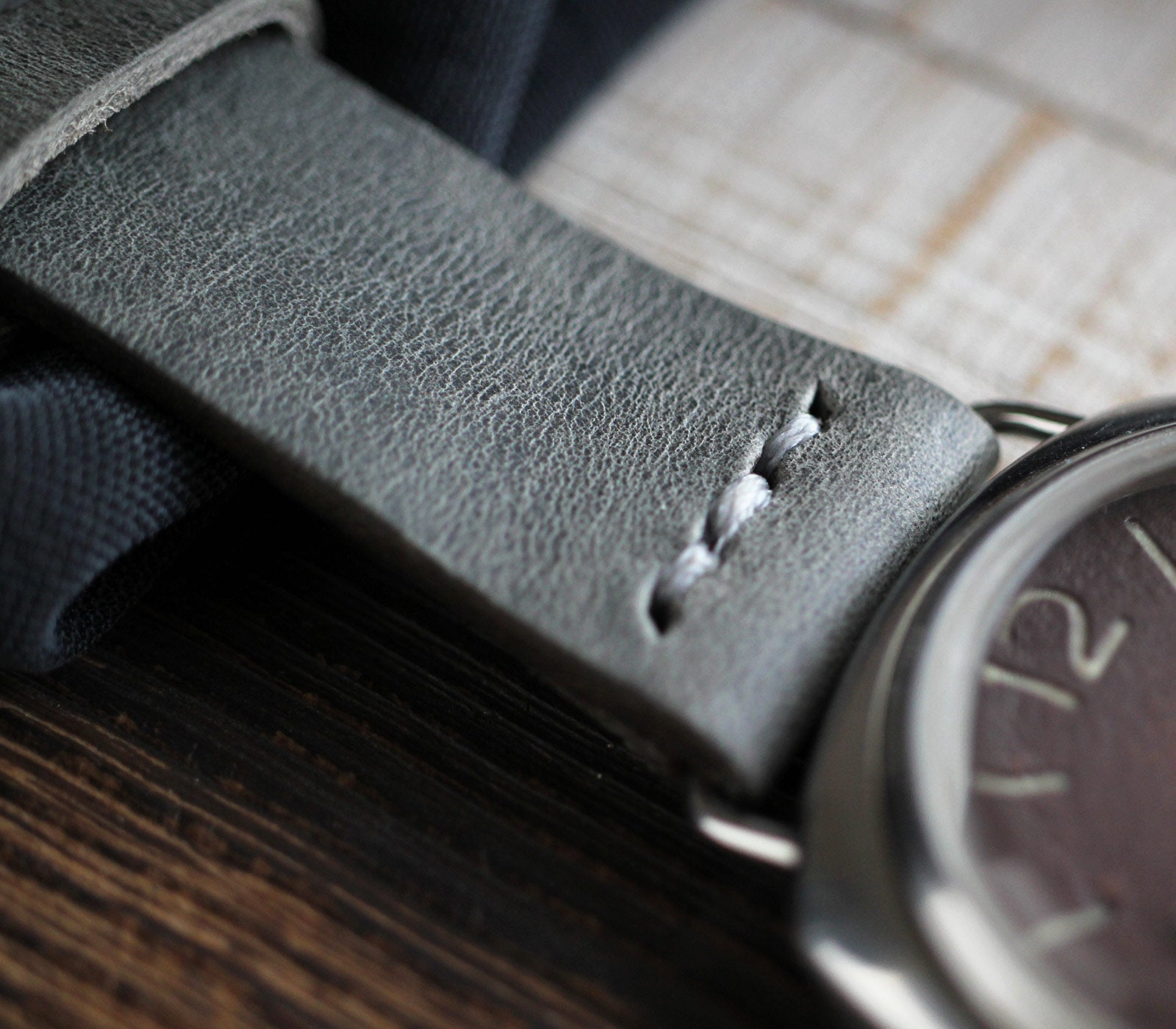 Leather Watch Strap - Antique Gray
