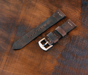 Leather Watch Strap - Antique Tobacco
