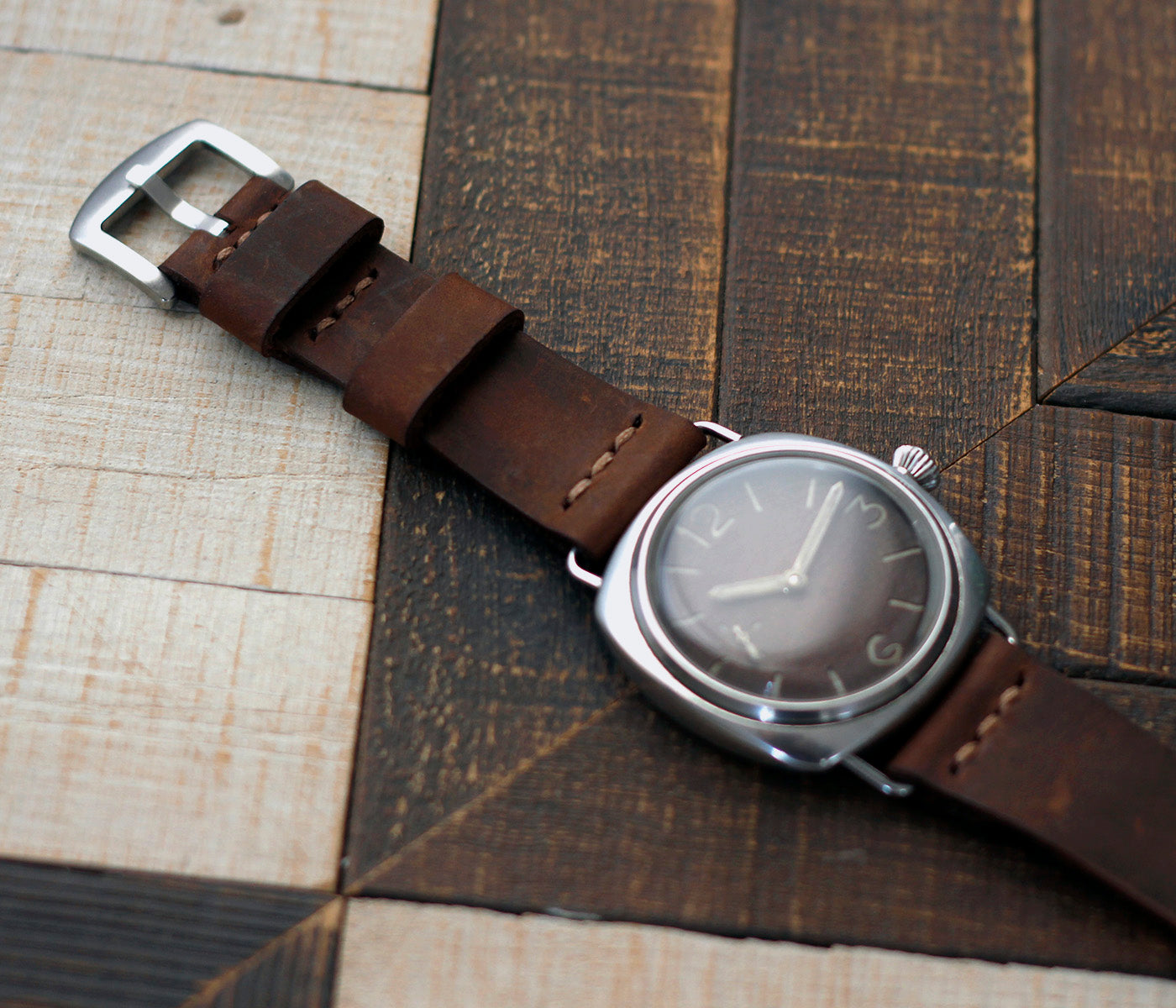 Leather Watch Strap - Antique Tobacco by Roarcraft