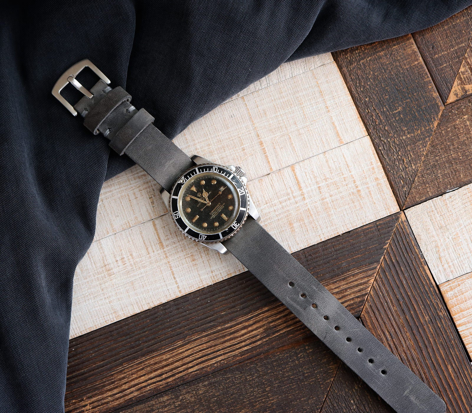 (NEW) Nato Watch Strap- Antique Gray