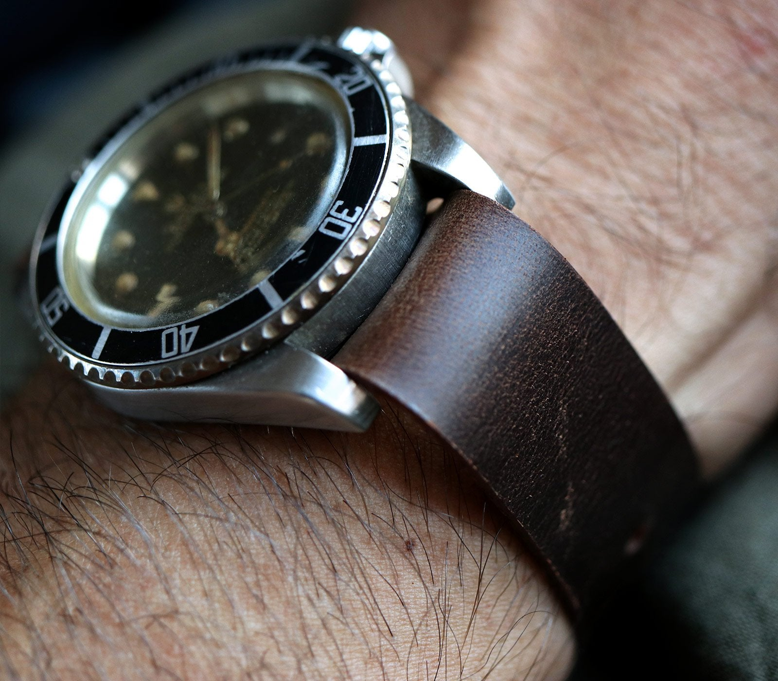 (NEW) Nato Watch Strap- Antique Brown